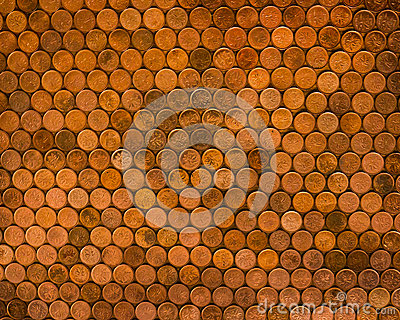 Canadian Pennies Coins Editorial Photography