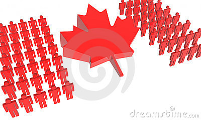 Canadian People 3D Flag