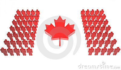 Canadian People Make Flag