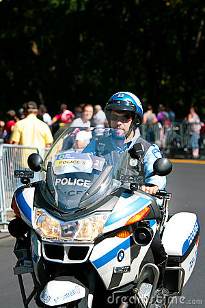 Canadian Police Officer on a motor bike Editorial Photo