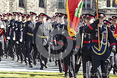 Canadian police officers at parliament hill Editorial Stock Photo