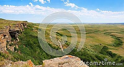 Canadian prairie in Southern Alberta, Canada
