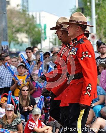 Canadian RCMP at Edmonton s Capital Ex parade Editorial Photography