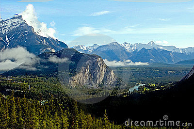 Canadian Rockies over Banff
