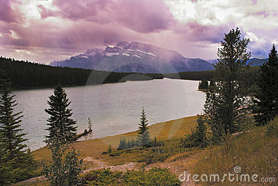 Canadian scenery on the Rockies