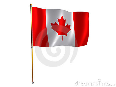 Canadian silk flag