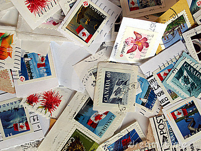 Canadian stamps background