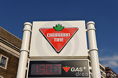 Canadian Tire Gas Station Sign Editorial Photography