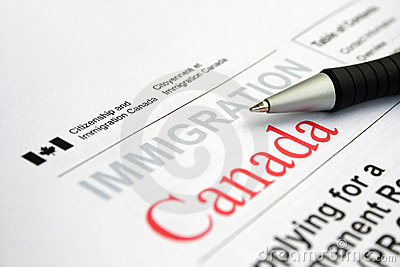 Canadian visa application