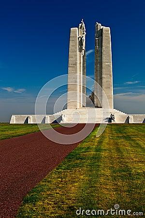 Canadian war memorial monument.