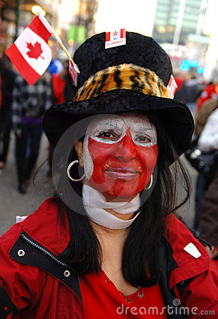 Canadian woman Editorial Image