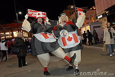 Canadians Editorial Stock Image