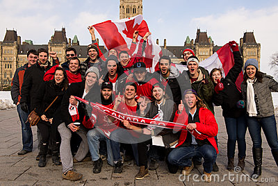 Canadians celebrate hockey gold Editorial Photo