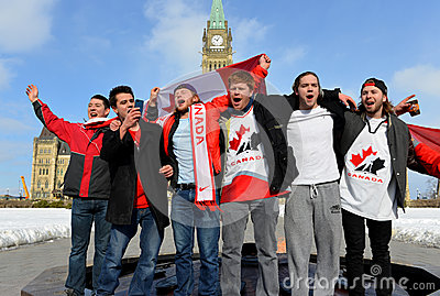 Canadians celebrate hockey gold Editorial Stock Photo