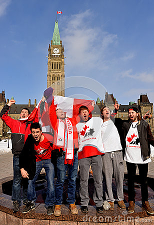 Canadians celebrate hockey gold Editorial Photography