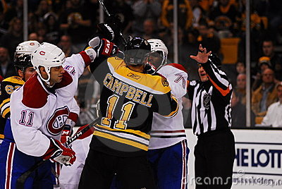 Canadiens-Bruins rivalry Editorial Photography