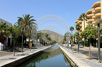 Canal in Alcudia town