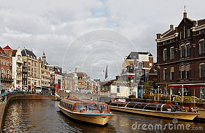 Canal in Amsterdam Editorial Stock Image