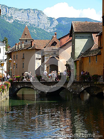 Canal at Annecy ( France )