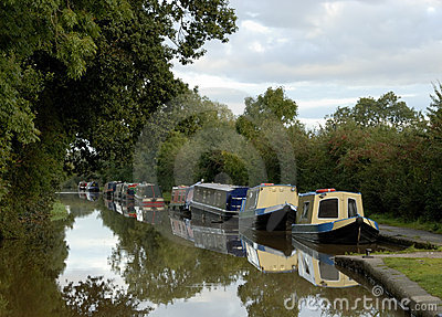 Canal Barges Royalty Free Stock Photography - Image: 3246577