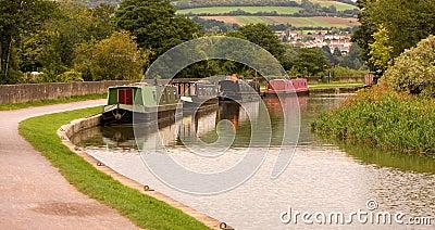 Canal Boats Scene England