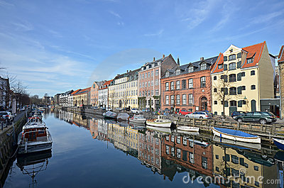 Canal christianshavn copenhagen Editorial Photography
