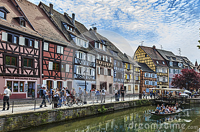 Canal in Colmar Editorial Stock Photo