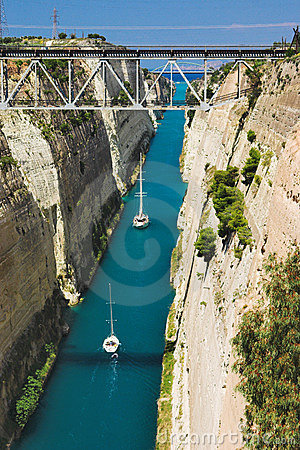 Canal in Corinth, Greece