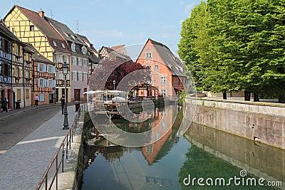Canal de Colmar Image éditorial