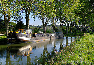 Canal du Midi in south of France