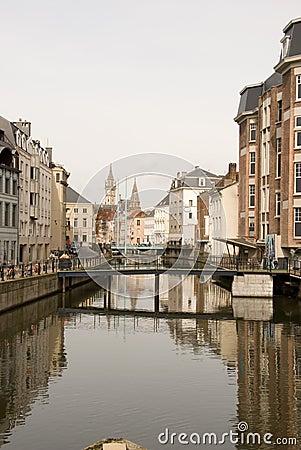 Canal in Gent, Belgium