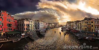 Canal Grande in Venice Editorial Stock Image