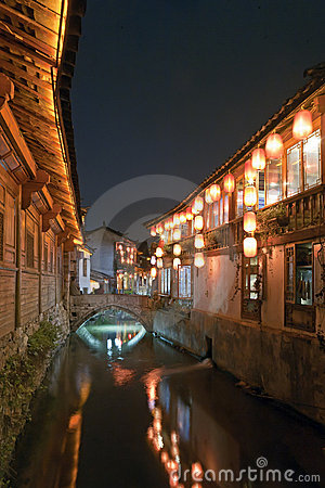 Free Canal In Lijiang Stock Photography - 20717092