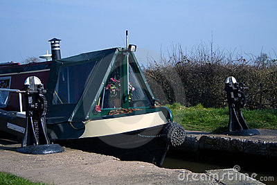 Canal longboat