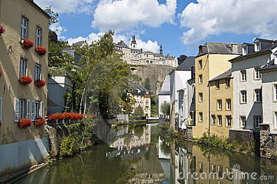 Canal in Luxembourg City