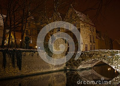Canal by night, Bruges.