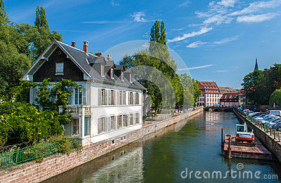 Canal in Petite France area, Strasbourg