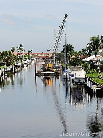 Canal seawall maintenance