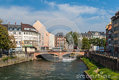 Canal in Strasbourg sity center
