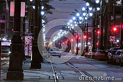 Canal Street Night Editorial Stock Photo