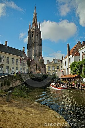 Canal tour of Bruges