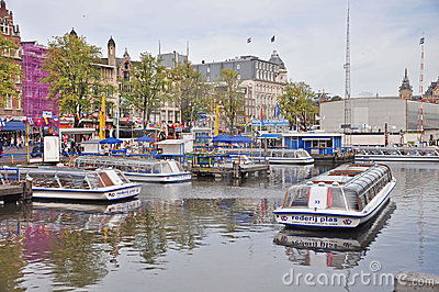 Canal Tours by Boat, Amsterdam Editorial Image