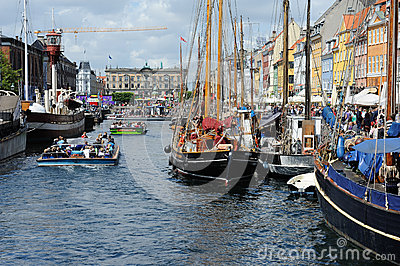 Canal tours and ships Editorial Stock Image