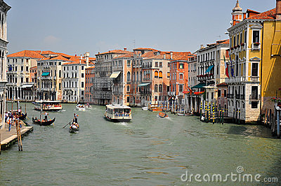 Canal in venice Editorial Stock Photo