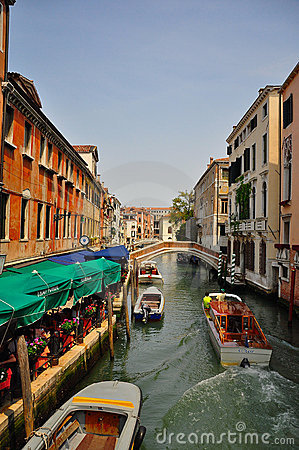 Canal in venice Editorial Photo