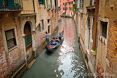 Canal in Venice Editorial Image