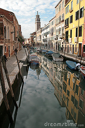 A canal of Venice Italy