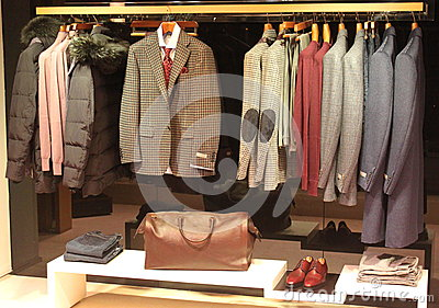 Canali clothing for men Editorial Image