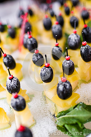 Canape with cheese