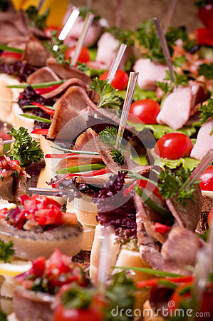 Canape for an event party